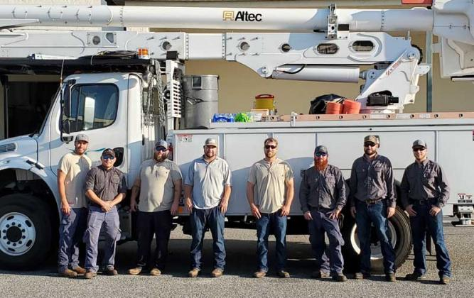 The Beaches Energy crew assisted in restoring power following Hurricane Delta. (photo submitted)