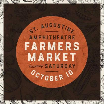 The St. Augustine Amphitheatre Farmers Market is open Saturdays. (photo submitted)