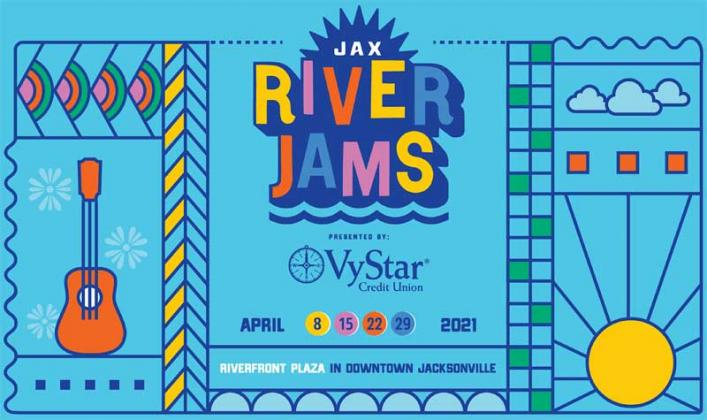 The Jax River Jams Concert Series will be held Thursdays in April at Riverfront Plaza, 2 W. Independent Dr, Jacksonville. (artwork submitted)