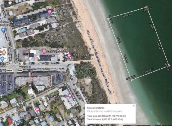 Area of Vilano Beach closed for the Pro Watercross event.