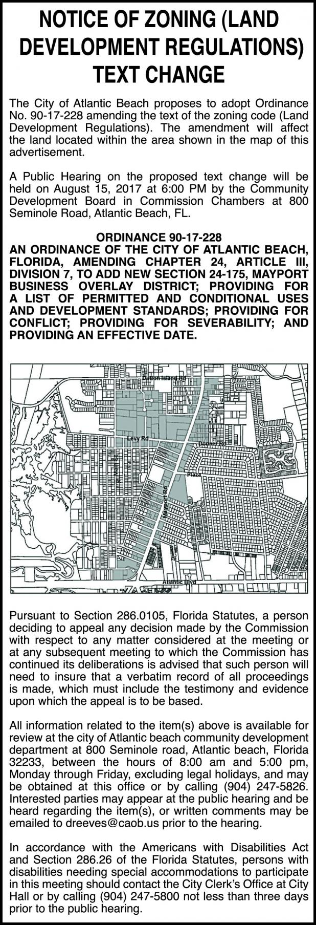 Legals The Beaches Leader Ponte Vedra Leader - Miami beach zoning map
